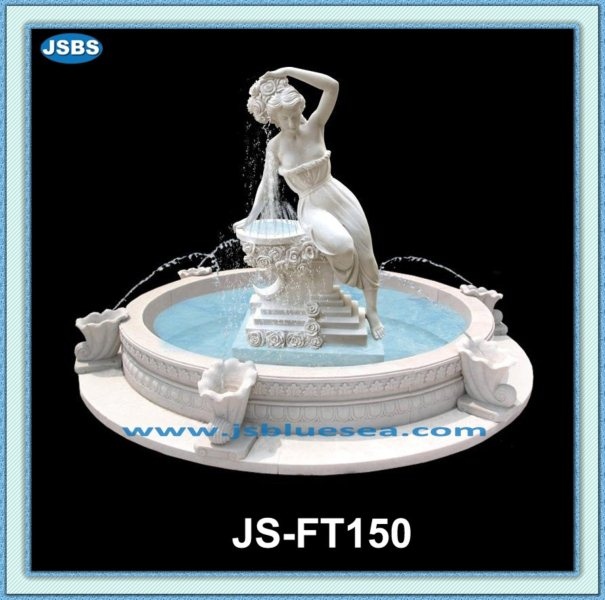 large outdoor marble sexy girl water fountain
