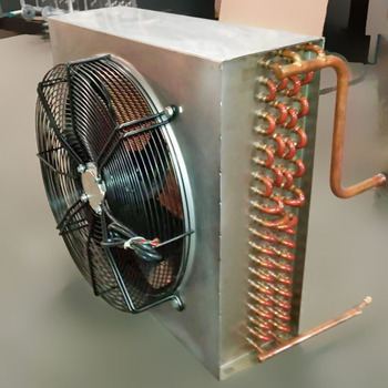Cold room copper tube air fin cooler with fan
