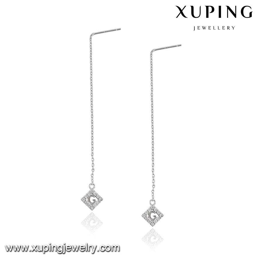 92743-high and fashion jewelry chain hanging earrings