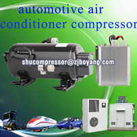 low voltage dc air conditioner compressor for ev rv electric cars vehicle heavy duty truck cabi