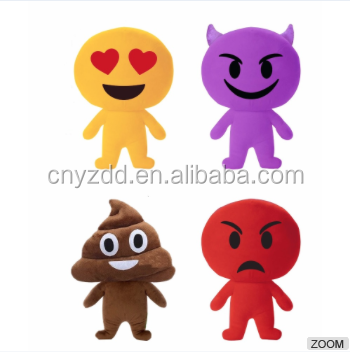 Free sample plush stuffed soft OEM manufacture emoji whatsApp cheap pillow custome cute doll toy maker