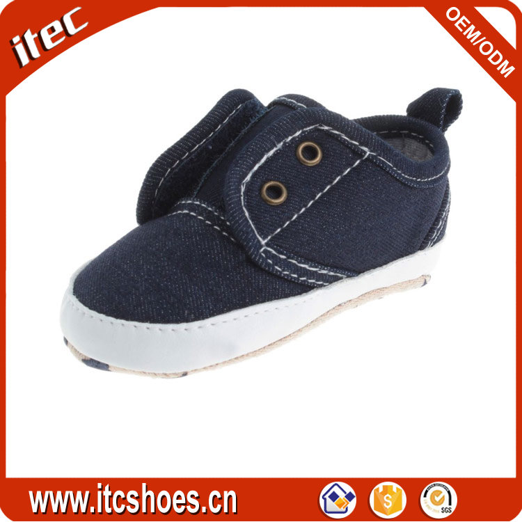 Best selling Not lace-up soft infant slip on baby shoe