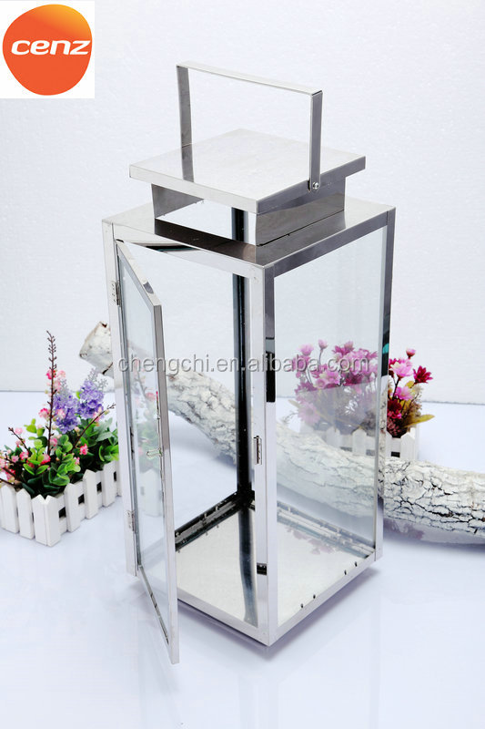 Stainless Steel candle lantern holder with different size