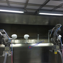 Robot Automatic Spray Paint Line for Helmet