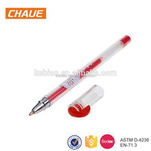 2017 best selling high quality colorful plastic writing 3d jelly pen with logo print