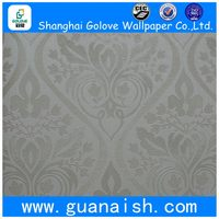 Cheapest high quality flower pvc deep embossed wallpaper