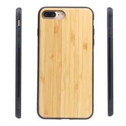 IKFCASE New natural custom bamboo wood tpu mobile phone case for iPhone 7 Plus