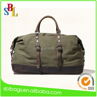 Fashion waxed canvas travel bag for travel and promotion, good quality fast delivery