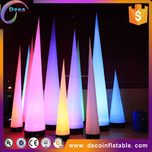 Customized inflatable cone decorations / inflatable cone with led lights / inflatable led ivory for sale