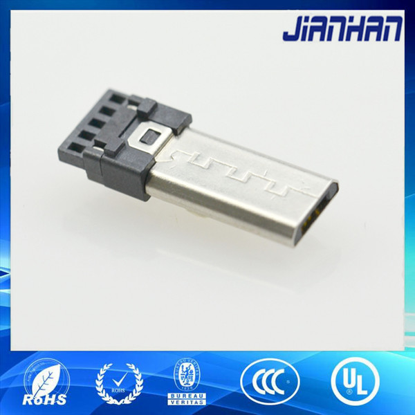 micro usb male connector soldering long type