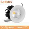 Flow 9 watts semi-recessed fixed curve downlight