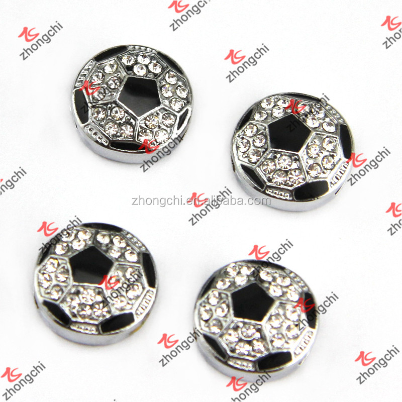 DIY 8MM Football/Soccer Slide Charms Wholesale