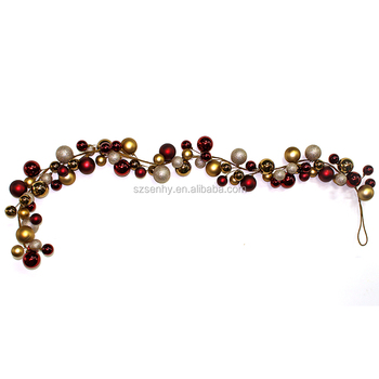 Holiday perfect christmas plastic ball garland