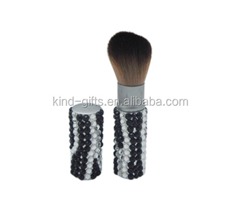 Large wholesale bling bling crystal best manly refillable single makeup brush
