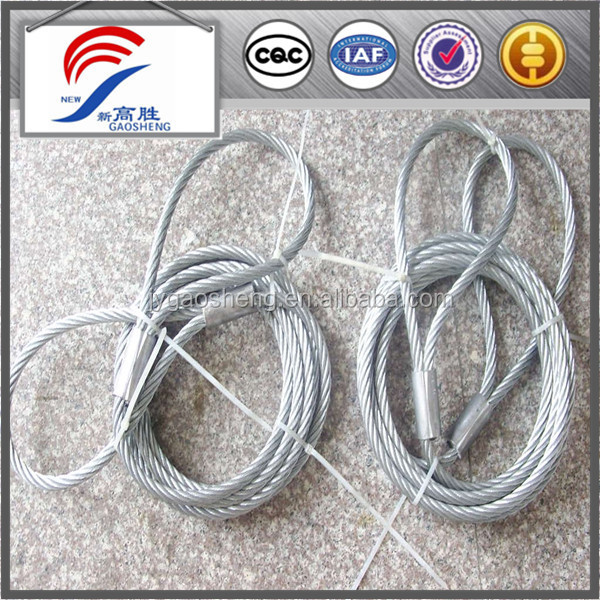 6x37+iwrc galvanized wire cable slings