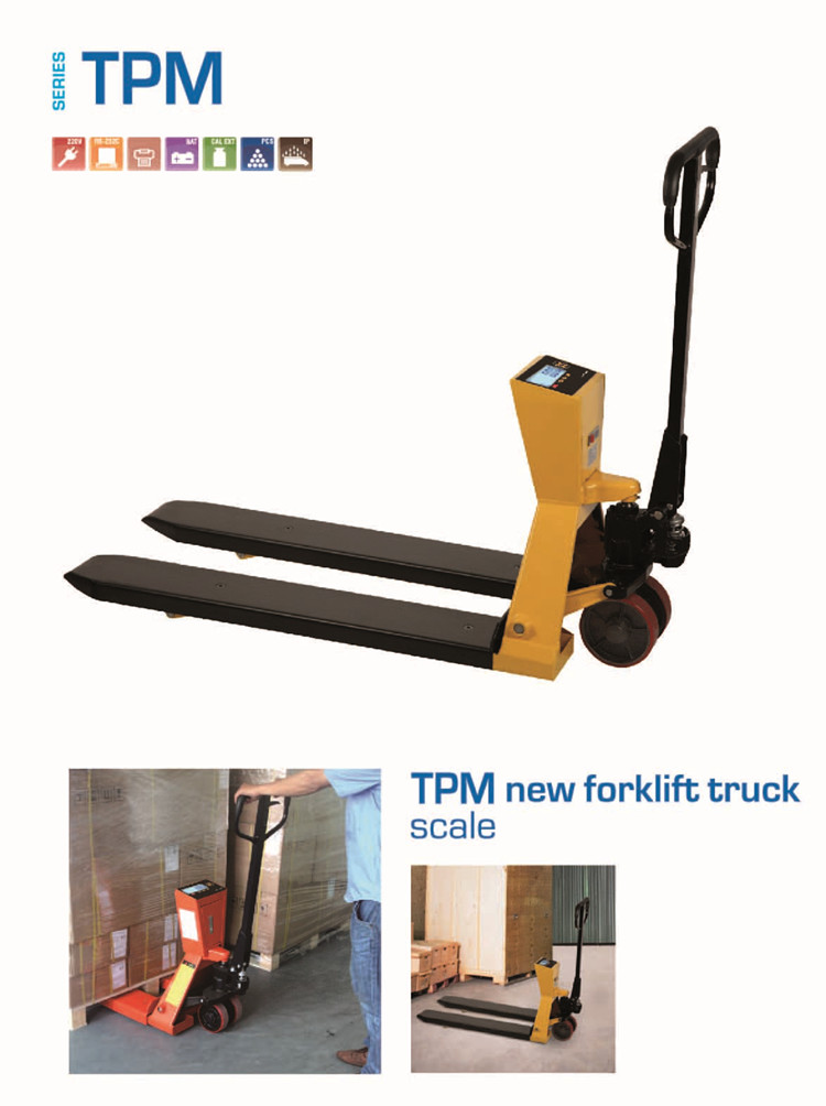 Pallet hand  with printer and OIML indicator forklift truck scale