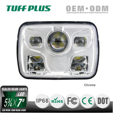 "Best selling 5x7"" Square Led Head Light for trucks mining off-road"