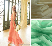 High quality chiffon 100% Polyester chiffon ruffled fabric for dress