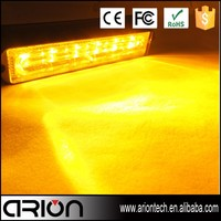 6 led light bar 4x4 off road mini single led lights flash warning strobe light bar amber 12v volt