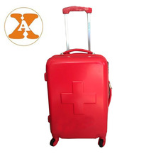 Pure Red Cross ABS&PC Cabin Size Hard Case Luggage And Bags Trolley Luggage Set