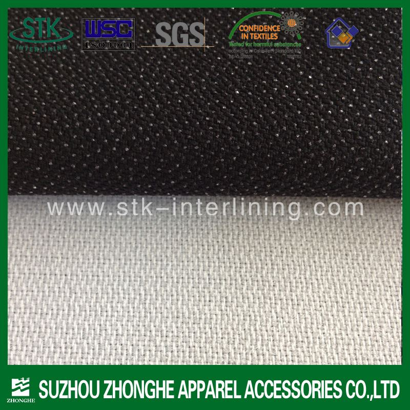 Competitive fusible interlining with double side dot interfacing fabric