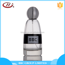 BBC Metallic Series-MF006 Hot sale spray male golden glass bottles natural explore perfume