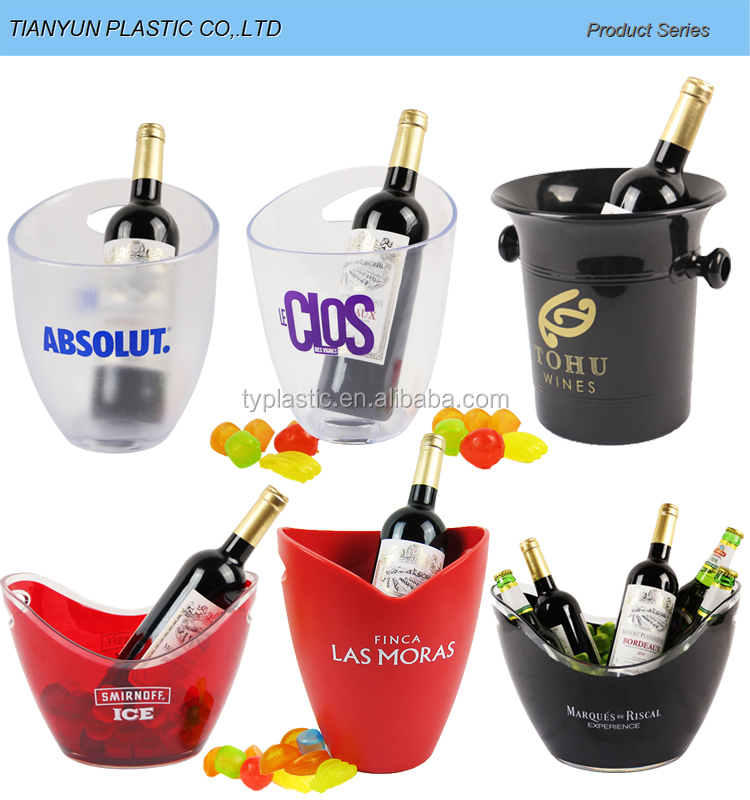 Taizhou Plastic Wine ice bucket supplier 8L