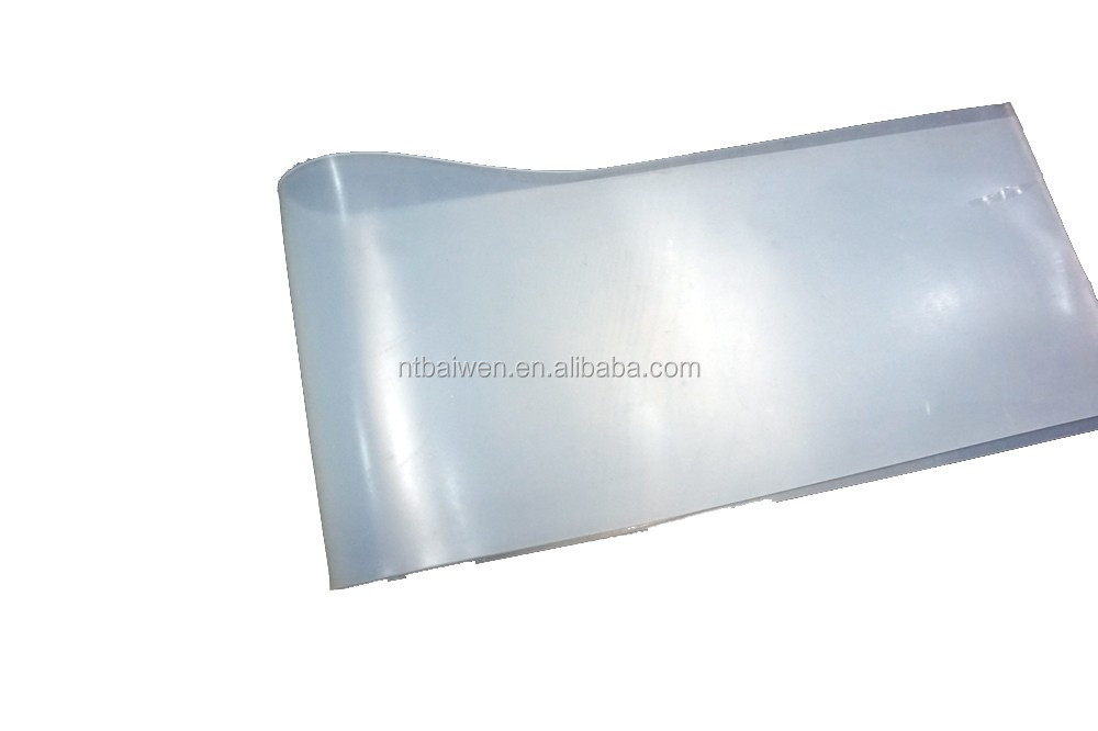 Transparent/clear and soft silicone rubber sheet