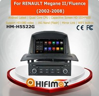 Hifimax oem car navigation android gps for renault megane ii/Fluence (2002-2008) car navigation system for megane 2
