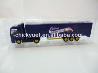 1/87 scale purple truck model