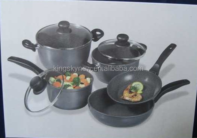 Non-stick marble coating cookware set