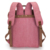 Wholesale best laptop genuine leather vintage canvas backpack for college students