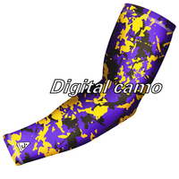 New colors arrival Arm Sleeves for Chef Sportswear custom colorful printed nylon sCustom Digital Camo Print Arm Sleeves for Chef