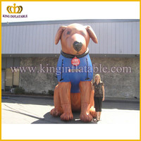 Giant inflatable type dog model,animated inflatable replica,inflatable dog