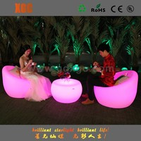 modern lights led plastic inflatable corner sofa