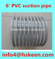 "6"" 'Standard Flexible PVC Helix Industrial Suction pipe"