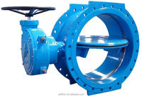 "Double Flanged Double Eccentric Butterfly Valve 4""-72"""