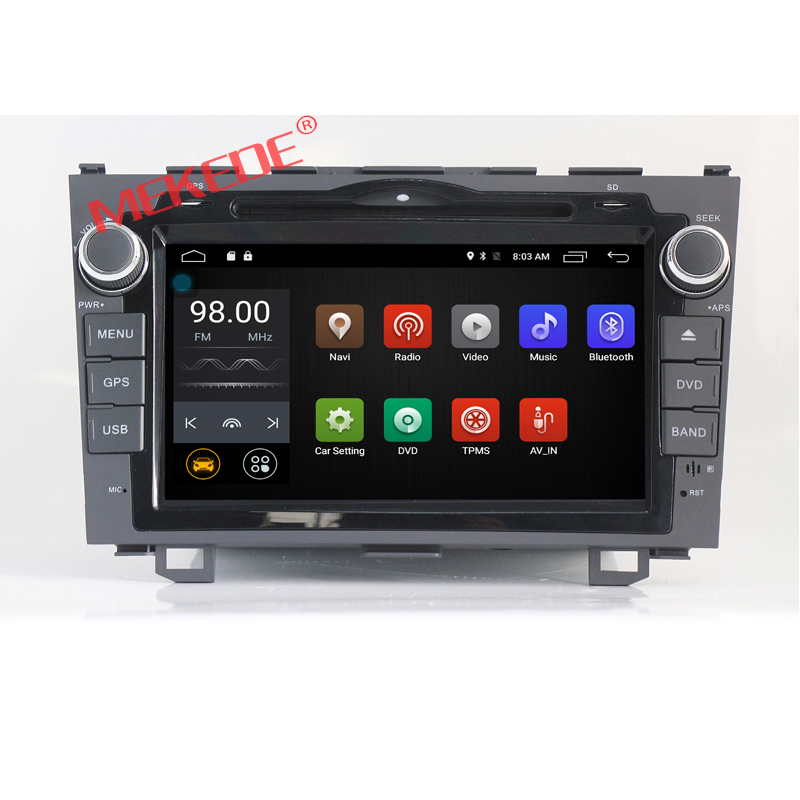 2-din 8 inch Android 7.1 CAR DVD PLAYER for Honda CRV 2006 2007 2008 2009 2010 2011 with 4G WIFI BT DVD GPS navigation radio