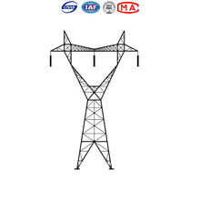 High Strength Q 235 Electric Power Iron angle steel tower