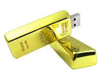 Gold bar usb key flash memory stick custom usb pen drive