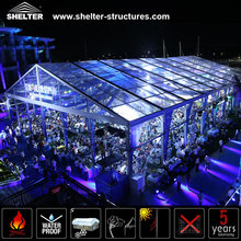 transparent carp big tents for events with lining decoration for sale