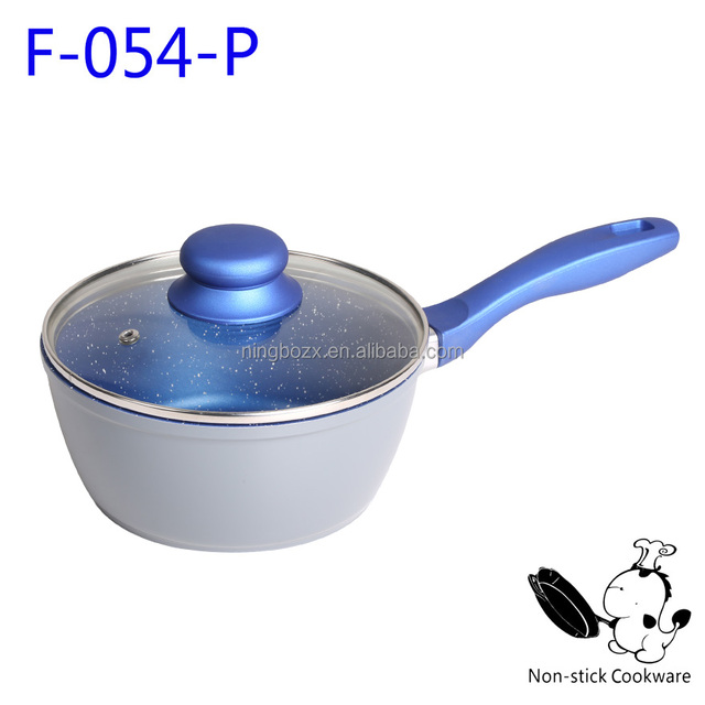marble coated ceramic coating with bakelite handle induction frying pan casserole cookware sets
