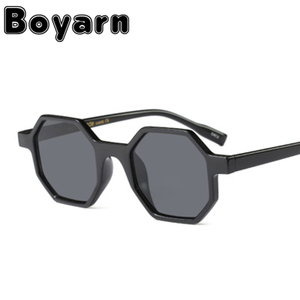 2935b7daa49 Boyarn Small Octagon Sunglasses Women Brand Designer 2018 Vintage Polygon  Colorful Sun glasses Female Male Shades