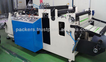 Perforating machine for easy tear of flexible packaging films