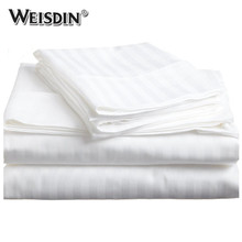 Bed hospital T/C 3CM stripes bedding set hospital rubber bed sheets cotton bed sheet