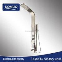 DM1302 Sliver mirror 304 grade brushed stainless steel shower column faucet