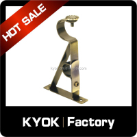 KYOK High quality cheap Middle east adjustable curtain rod bracket ,extendable wall curtain bracket
