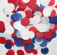 1 inch Navy Blue, Red and White Birthday Decorations Tissue paper party confetti