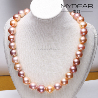 Charm peal necklace multi color high quality pearl necklace jewelry