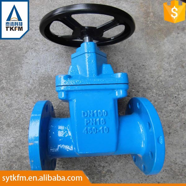 Forged steel cast iron rising stem gear operated rubber gate valve manufacturer